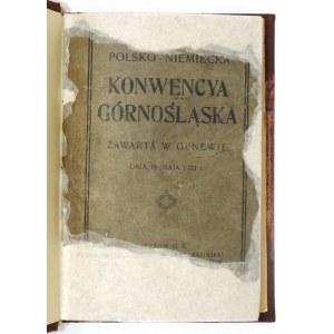 POLSKO-NIEMIECKA konwencya górnośląska Genewa 15 maja 1922 r.