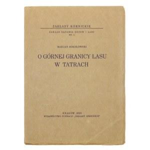 SOKOŁOWSKI M. – O górnej granicy lasu w Tatrach. 1928