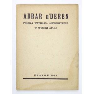 SZCZEPAŃSKI – Adrar n'Deren. Polska wyprawa alpinistyczna w wysoki Atlas 1934