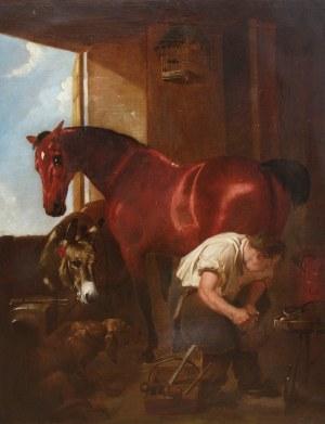 Artysta nieokreślony (XIX w.), Scena w kuźni