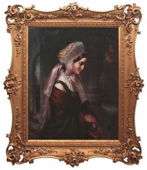 Louis Friedrich Sy (1818 Anklam-1887 Gdańsk), Portret młodej Warmiaczki, 1854 r.