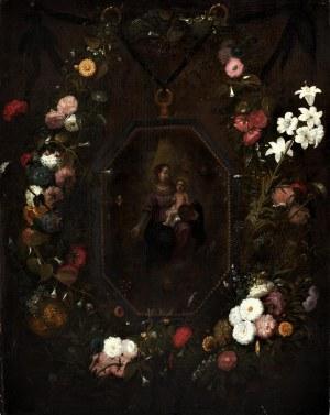 krąg Jana Brueghla Starszego (XVI/XVII w.), Madonna wśród kwiatów