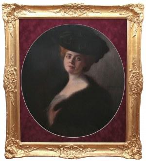 Arnulf de Bouché (1872 Monachium - 1945 Langkampfen), Portret damy, 1903 r. sygn. i dat. p. b.: Arnulf de Bouché/1903
