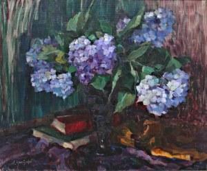 Elisabeth Haentzschel (1882-1970), Hortensje w wazonie