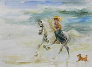 Zenon Aniszewski (ur. 1948 r. Grudziądz), Dziewczynka na koniu, 2021 r.