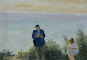 Irena Weiss zw. Aneri (1888 Łódź - 1981 Kraków), Czytający na tle morza