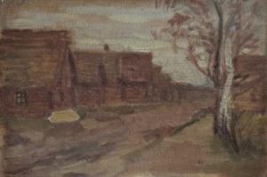 Fryderyk Pautsch (1887 Delatyn - 1950 Kraków), Pejzaż wiejski