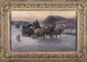 J. Konarski (XIX/XX w.), Przejazd dorożką