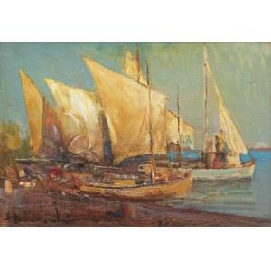Henryk Baranowski (1932 Starogard Gdański - 2005 Gdynia), Jachty w Splicie, 1984 r.
