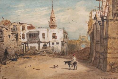Eduard Hildebrandt (1817 Gdańsk-1868 Berlin), Pejzaż z Suezu
