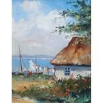 Eugeniusz Dzierzencki (1905 Warszawa - 1990 Sopot), Chata rybacka nad Bałtykiem