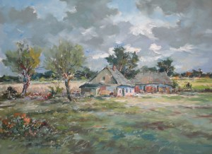 Eugeniusz Dzierzencki (1905 Warszawa - 1990 Sopot), Pejzaż kaszubski, 1981 r.