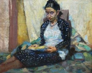 Alfred Świeykowski (1869 Paryż-1953 tamże), Czytająca