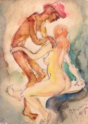 Marian Sigmund (1902 Błudniki - 1993 Kraków), Scena erotyczna, 1970 r.