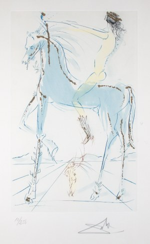 "Salvador Dali (1904 Figueres/Hiszpania - 1989 Figueres/Hiszpania), Z cyklu ""Pieśń nad pieśniami"", 1971 r."