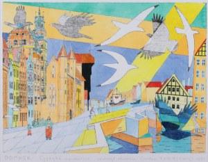 Czesław Tumielewicz (ur. 1942 Lida), Gdańsk. Cyganka na moście, 2021 r.
