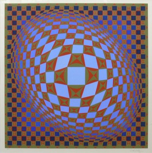 Victor Vasarely (1908 Pécs - 1997 Paryż), Kompozycja, 1985 r.