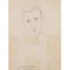 Wlastimil Hofman (1881 Praga - 1970 Szklarska Poręba), Portret mężczyzny, 1943 r.