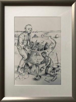 Dariusz Miliński, UTRWALACZE HISTORII, 54 x 43 cm.