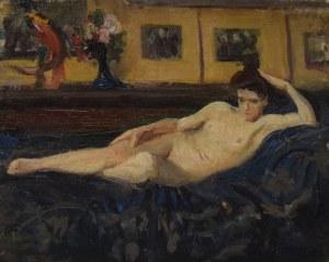 Leon WYCZÓŁKOWSKI (1852-1936), Akt leżącej kobiety