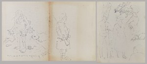 Karol KOSSAK (1896-1975), Dwie karty ze szkicownika