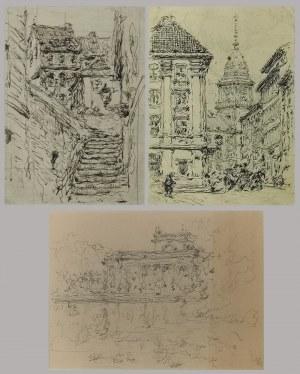 Tadeusz CIEŚLEWSKI (1870-1956), Zestaw trzech rysunków