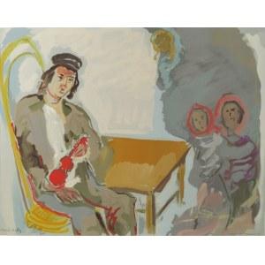 """Emmanuel KATZ - zwany MANÉ-KATZ (1894-1962), Utracone marzenia Stempenju - Ilustracja do powieści Szolem Alejchema """"Stempenju"""""""