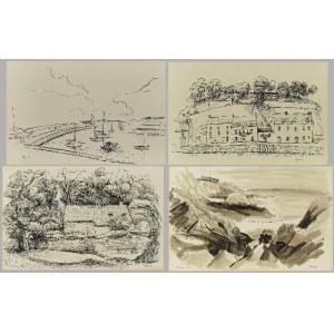 Zdzisław CYANKIEWICZ (1912-1981), Zestaw 16 rysunków ze szkicownika