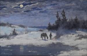 Edward MESJASZ (1929-2007), Zimowy nokturn, 1997