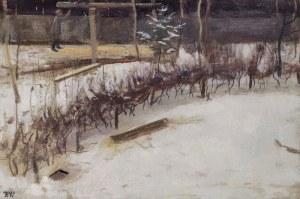 Wojciech WEISS (1875-1950), Przedwiośnie w Podgórzu [Składy solne w Płaszowie zimą], 1897