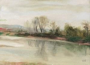 Wojciech WEISS (1875-1950), Wisła pod Krakowem [Wisła z drzewami], 1897
