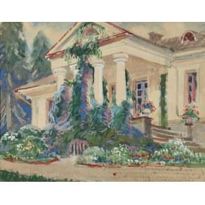 Henryk UZIEMBŁO (1879-1949), Dworek w kwiatach, przed 1948