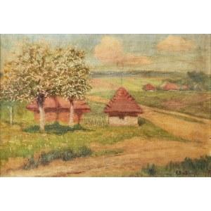 Roman BRATKOWSKI (1869-1954), Pejzaż z kwitnącymi jabłoniami