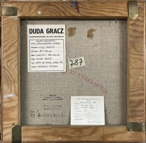 Jerzy Duda-Gracz ( 1941 – 2004 ), Obraz Motyw Węgierski Latogassatok Tokajt , 1974