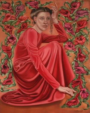 Dorota Kuźnik ( 1975 ), Czerwona sukienka , 2021