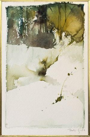 Jerzy Duda-Gracz ( 1943 - 2004 ), Bez tytułu - krajobraz zimowy, 1980