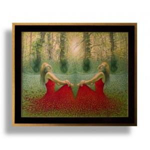Katarzyna Kania ( 1983 ), Sen o nieśmiertelności –czerwona dama w szmaragdowej dolinie , 2016