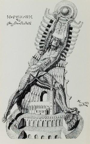 Stanisław SZUKALSKI (1893-1987), Kopernik (projekt pomnika) i KRa-k (Krak zabijający smoka), ok. 1973