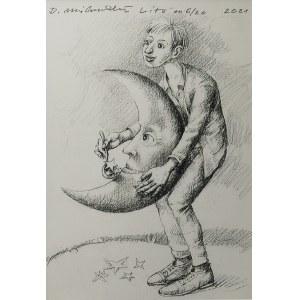 Dariusz MILIŃSKI (ur.1957) , Księżyc, 2021