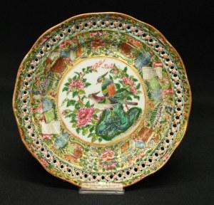 Carl Tielsch, talerz z dekoracją chinoiserie XIX w.