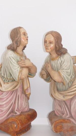 para aniołów, drewno, XIX w.