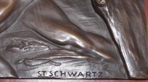 St. Schwartz, plakieta z brązu-