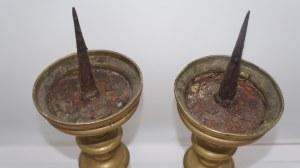 para świeczników szpulowych, późny gotyk, około 1500 r.