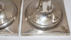 para świeczników klasycystycznych Berlin srebro 513g