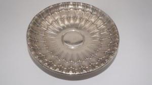 Patera na stopie, art deco, srebro 800, 418 g