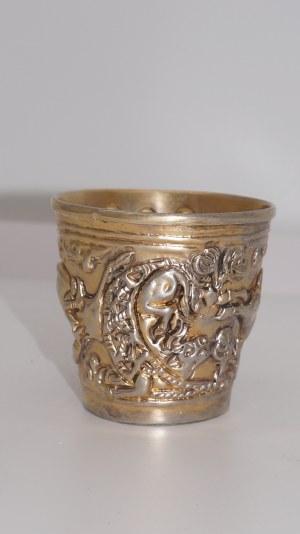 kubek, srebro złocone 70g