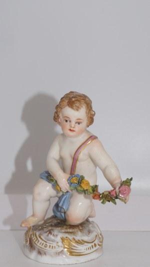 Miśnia, figurka Amorka z kwiatami