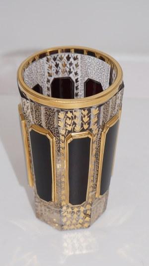 szklaneczka z rubinowymi nakładkami XIX w.