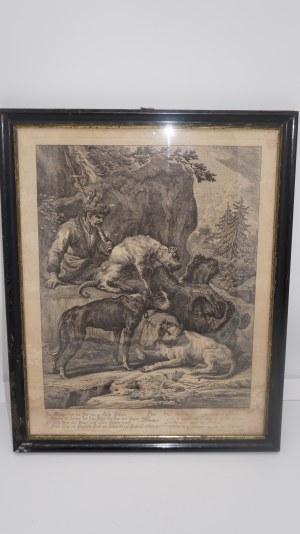 miedzioryt Johann Elias Ridinger