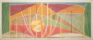 Burkiewicz Franciszek (1910-2002), Pejzaż techniczny ze słońcem, 1981